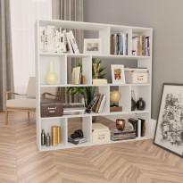 Tilanjakaja/kirjahylly valkoinen 110x24x110 cm lastulevy