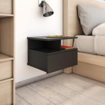 Kelluvat yöpöydät 2 kpl musta 40x31x27 cm lastulevy