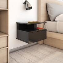 Kelluvat yöpöydät 2kpl korkeakiilto 40x31x27cm lastulevy