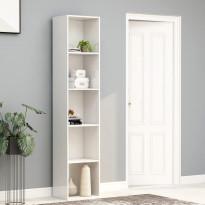Kirjahylly korkeakiilto valkoinen 40x30x189 cm lastulevy