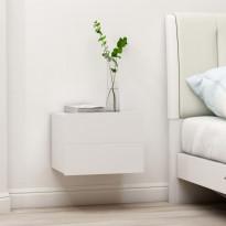Yöpöydät 2 kpl valkoinen 40x30x30 cm lastulevy