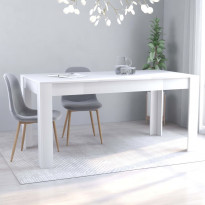 Ruokapöytä valkoinen 160x80x76 cm lastulevy