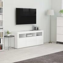 Tv-taso valkoinen 120x30x50 cm lastulevy