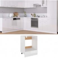 Uunikaappi korkeakiilto valkoinen 60x46x81,5 cm lastulevy, Verkkokaupan poistotuote