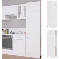 Kaappi jääkaapille valkoinen 60x57x207cm lastulevy