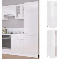 Kaappi jääkaapille korkeakiilto valkoinen 60x57x207 cm