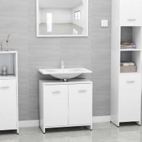 Kylpyhuonekaappi korkeakiilto valkoinen 60x33x58cm lastulevy