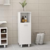 Kylpyhuonekaappi korkeakiilto valkoinen 30x30x95 cm