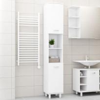 Kylpyhuonekaappi valkoinen 30x30x179 cm lastulevy