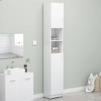Kylpyhuonekaappi valkoinen 32x25,5x190 cm lastulevy