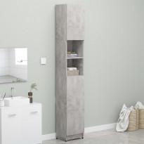Kylpyhuonekaappi betoninharmaa 32x25,5x190 cm lastulevy