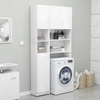 Kylpyhuonekaappi korkeakiilto valkoinen 32x25,5x190cm