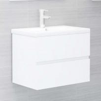 Allaskaappi valkoinen 60x38x45 cm lastulevy