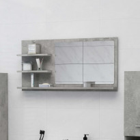 Kylpyhuonepeili betoninharmaa 90x10,5x45 cm lastulevy