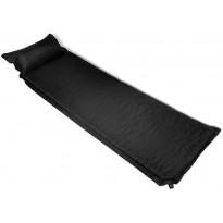 Makuualusta tyynyllä, 6x66x200cm, ilmatäytteinen, musta