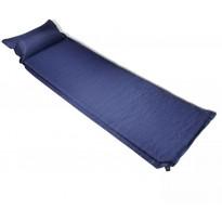 Makuualusta tyynyllä, 6x66x200cm, ilmatäytteinen, sininen