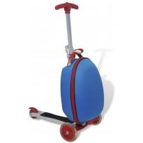 Lasten potkulauta, matkalaukulla, sininen