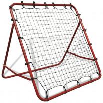 Jalkapallon palautusverkko 100x100cm, säädettävä