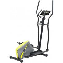 Crosstrainer, magneettinen, sykemittauksella, harmaa/keltainen