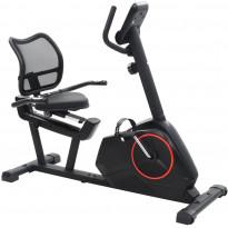 Kuntopyörä, rekumbentti, magneettinen, sykemittauksella, musta