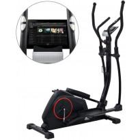 Crosstrainer, magneettinen, sykemittauksella, XL, musta