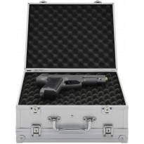 Asekotelo alumiini, 31x26x15,2 cm, ABS hopea