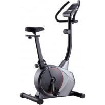 Kuntopyörä, magneettinen, sykemittauksella, harmaa/musta