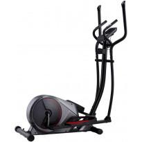 Crosstrainer, magneettinen, sykemittauksella, tummanharmaa/musta