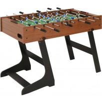Jalkapallopöytä, kokoontaittuva, 121x61x80cm, ruskea