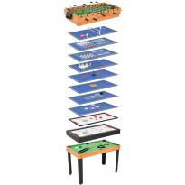 Monen pelin pöytä 15-in-1, 121x61x82cm, vaahtera