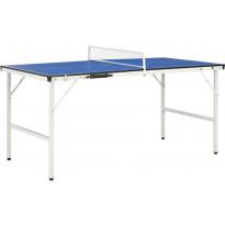 Pingispöytä verkolla, 152x76x66cm, sininen