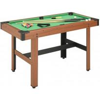 Biljardipöytä 122x61x76cm, ruskea