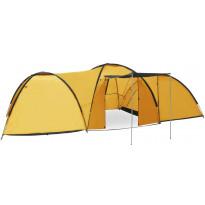 Teltta, 650x240x190cm, 8 hengelle, keltainen