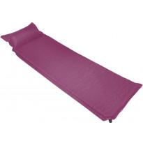 Makuualusta tyynyllä, 66x200cm, ilmatäytteinen, vaaleanpunainen