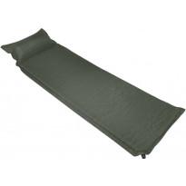 Makuualusta tyynyllä, 100x200cm, ilmatäytteinen, tummanvihreä