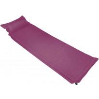 Makuualusta tyynyllä, 55x185cm, ilmatäytteinen, vaaleanpunainen