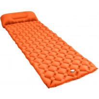 Makuualusta tyynyllä, 58x190cm, ilmatäytteinen, oranssi