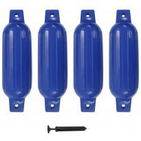 Veneen lepuuttaja, 4 kpl, sininen, 41x11,5 cm, PVC