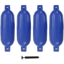 Veneen lepuuttaja, 4 kpl, sininen, 58,5x16,5 cm, PVC