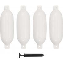 Veneen lepuuttaja, 4 kpl, valkoinen, 58,5x16,5 cm, PVC