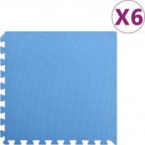 Palamatot 6kpl, 2.16 m², EVA-vaahto, sininen