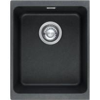 Keittiöallas Franke Kubus KBG 210-34, 34 x 40 cm, Fragranite, musta