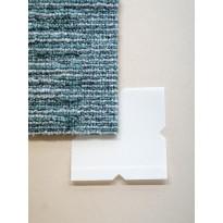 Tekstiililaatan tarrapala Forbo Tessera In-touch Smart Tac, 7,5x7,5cm, 100 kpl, valkoinen