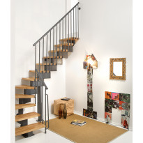 Porrasrakennelma Oak90, L-malli, 242-302cm, 70cm, eri värejä