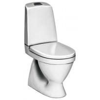WC-istuin Nautic 1500 Hygienic Flush, kaksoishuuhtelu 4/2,5l, S-lukko, avoin huuhtelukaulus, soft closing kansi