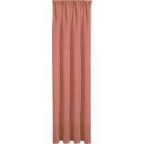 Sivuverho Gerster, 140x245cm, läpikuultava, roosa