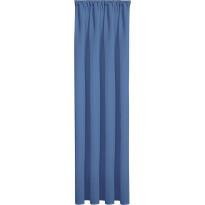 Sivuverho Gerster, 140x245cm, läpikuultava, sininen