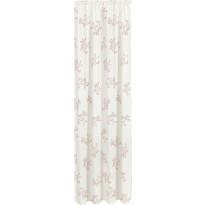 Sivuverho Gerster, 140x245cm, kukkakuvio, vaalea roosa, 40703-0060, luomupuuvilla
