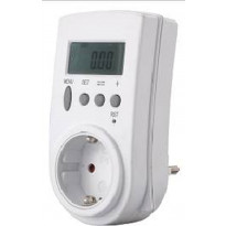 Sähkönkulutusmittari Gelia 110-230V, maadoitettu, 5-3680W