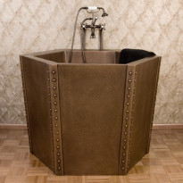 Japanilainen kylpyamme GemLook 277034, 240 l, 87 x 86cm, kupari